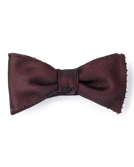 Title of Work Miyuki Beaded Edge Bow Tie, Red