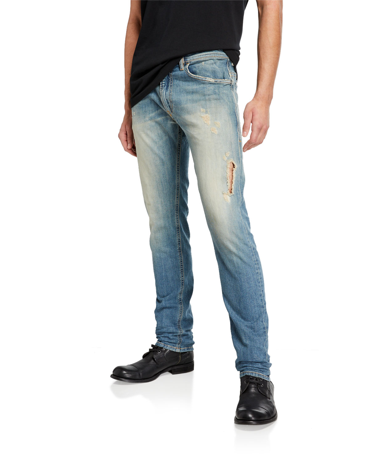 3ccd47f5 Diesel Men's Thommer Slim Fit Ripped Denim Jeans | Neiman Marcus