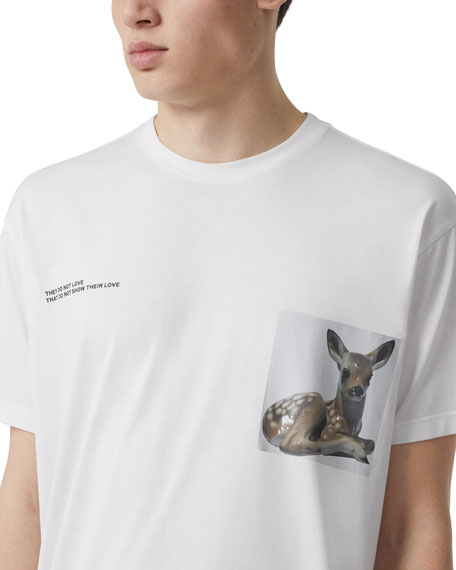 Burberry Men's Graphic Crewneck T-Shirt