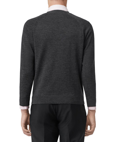 Burberry Men's Square-Neck Wool Sweater