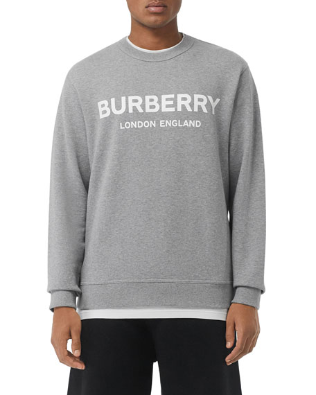 Burberry Men's Lanslow Logo Graphic Cotton Sweatshirt
