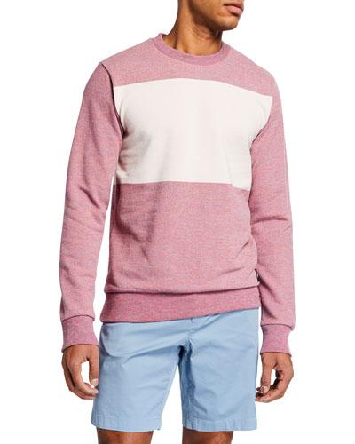 Men's Multicolor Melange Crewneck Sweatshirt