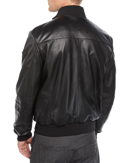 57b3360ec Men's Napa Leather Bomber Jacket