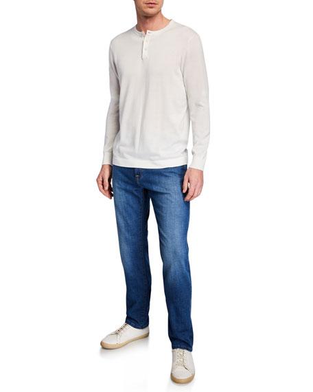 Neiman Marcus Men's Lightweight Denim Straight-Leg Jeans