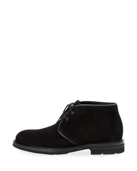 Aquatalia Men's Rinaldo Suede Lace-Up Chukka Boots