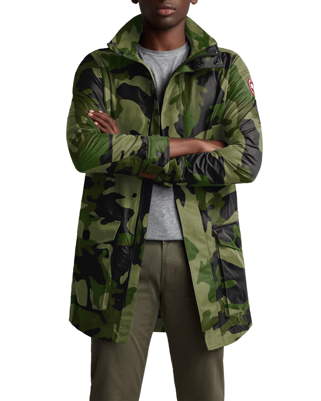 765a4dfdf Men's Crew Camo Print Trench Coat