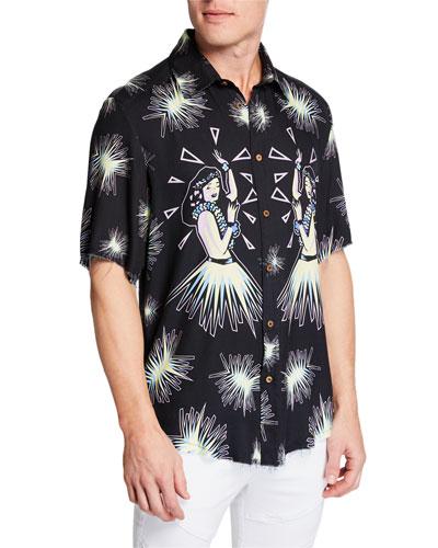 Men's Hula Short-Sleeve Shirt
