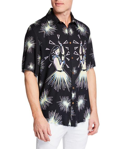 Mauna Kea Men's Hula Short-Sleeve Shirt