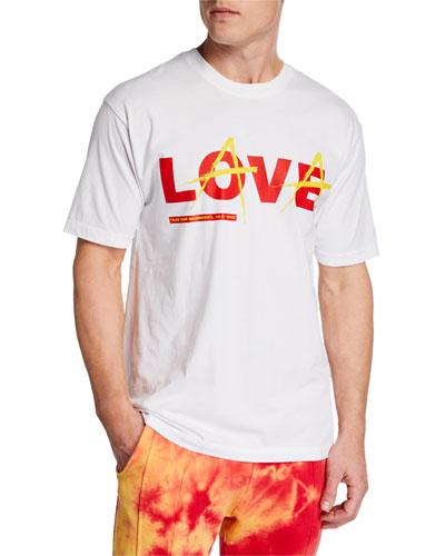 Men's Love Lava Solid Color T-Shirt