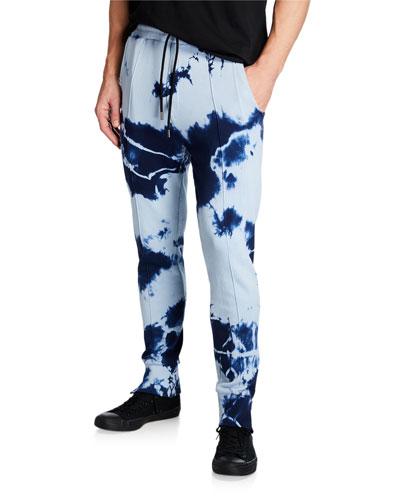 Men's Punch Treatment Tie-Dye Jogger Pants