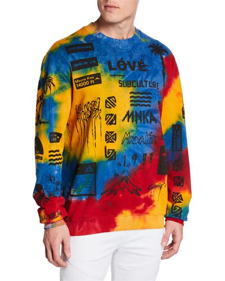 Mauna Kea Men's Multicolor Manifesto Sweatshirt