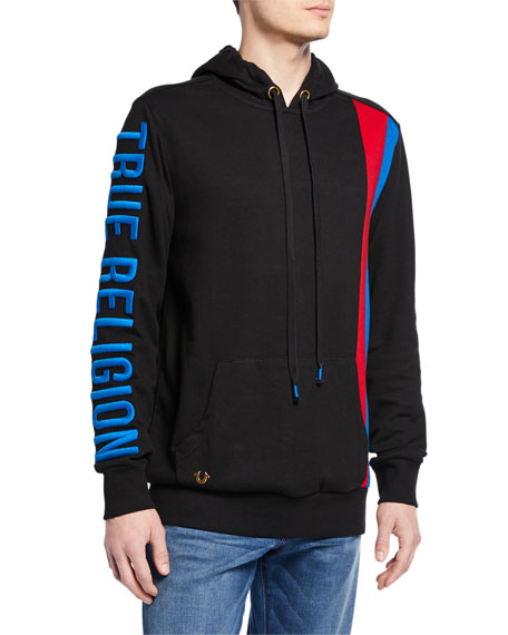 True Religion Tops MEN'S LOGO-EMBROIDERED PULLOVER HOODIE