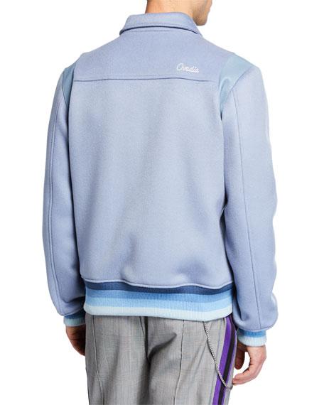 Ovadia & Sons Men's x Victor Cruz Wool Varsity Jacket