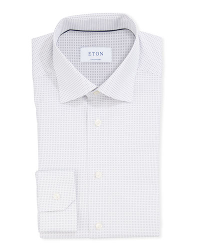 Men's Micro-Print Contemporary Sport Shirt