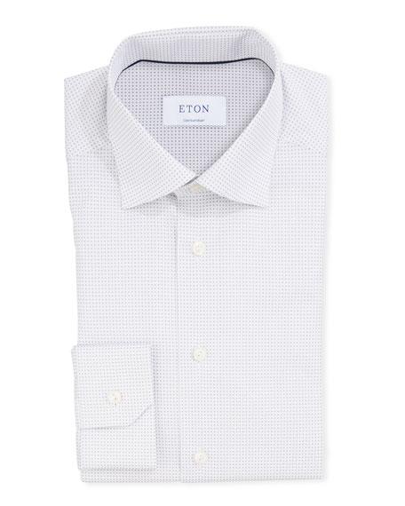 Eton T-shirts MEN'S MICRO-PRINT CONTEMPORARY SPORT SHIRT