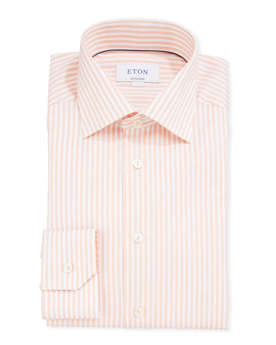 Men's Striped Contemporary Sport Shirt