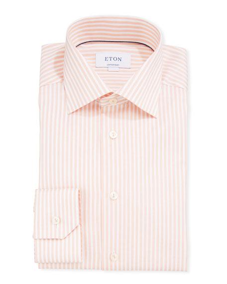 Eton T-shirts MEN'S STRIPED CONTEMPORARY SPORT SHIRT