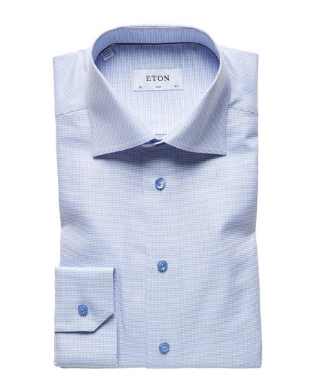Eton Men's Textured Twill Slim-Fit Dress Shirt