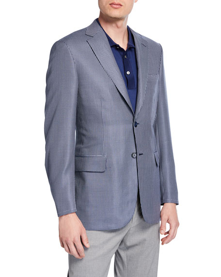 Brioni Men's Houndstooth Two-Button Jacket