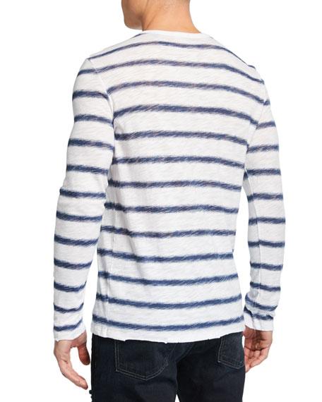 ATM Anthony Thomas Melillo Men's Watermark Stripe Long-Sleeve T-Shirt