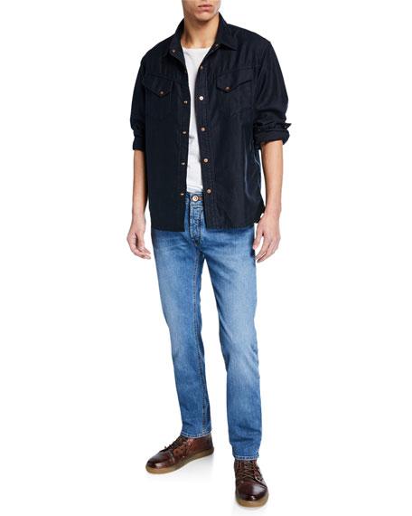 Hand Picked Men's Yagi Light-Wash Stretch Denim Jeans