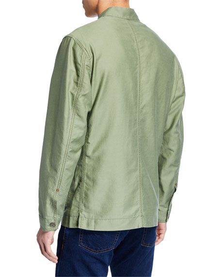 Hand Picked Men's Button-Front Soft Jacket