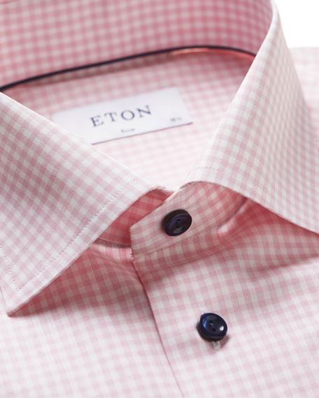 Eton Men's Light Gingham Check Slim-Fit Dress Shirt