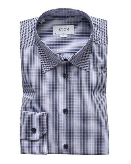 Eton Men's Slim-Fit Check Dress Shirt
