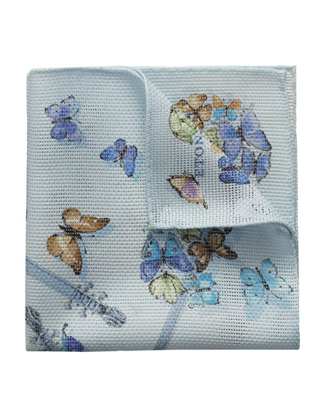 Eton Butterfly Guitar Cotton Pocket Square