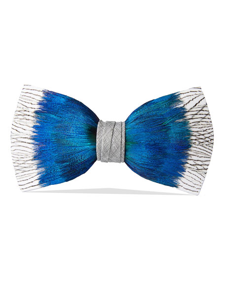 Brackish Bowties Rutledge Feather Formal Bow Tie