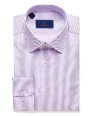 318532fa0ef7f David Donahue Men's Striped Regular-Fit Dress Shirt, ...