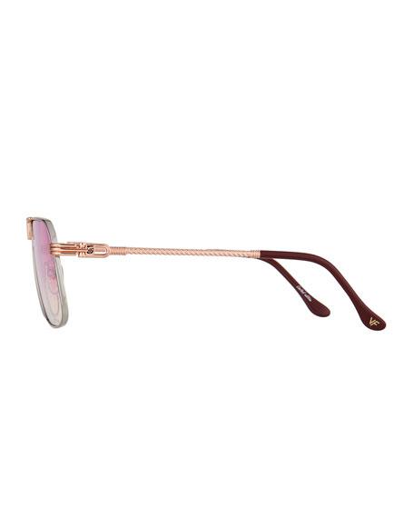 Vintage Frames Company Men's Governor Gold-Plated Aviator Sunglasses