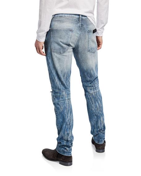 Hudson Men's Blinder Biker Scattered Distressed Skinny Jeans
