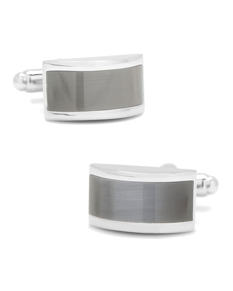 Cufflinks Inc. Gray Cat Eye Bridged Cufflinks