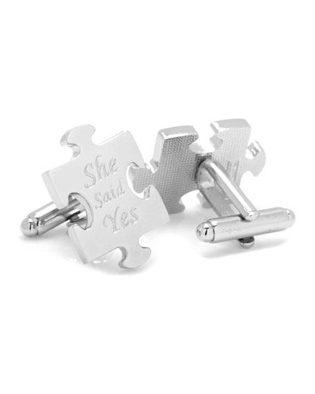 Cufflinks Inc. Wedding Puzzle Piece Cufflinks