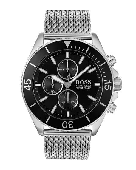 Hugo Boss Men's Ocean Edition Chronograph Watch with Bracelet