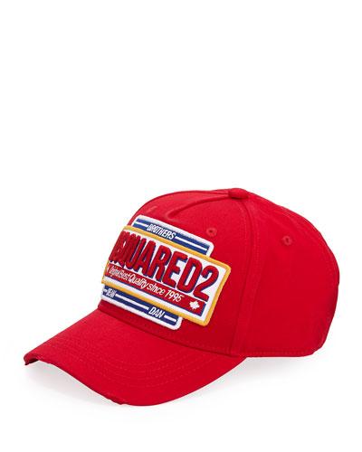 Men's Embroidered Logo Baseball Cap