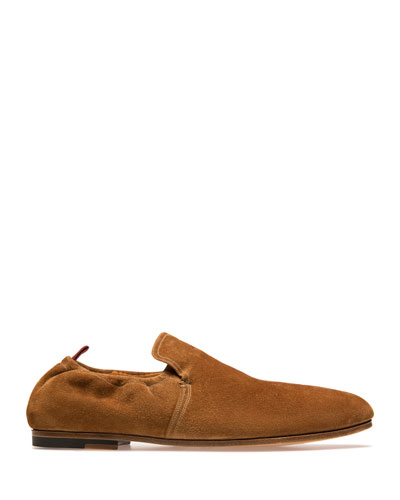 Men's Plank Suede Loafers  Beige
