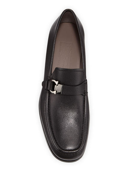Salvatore Ferragamo Men's Adam Leather Gancio Loafers