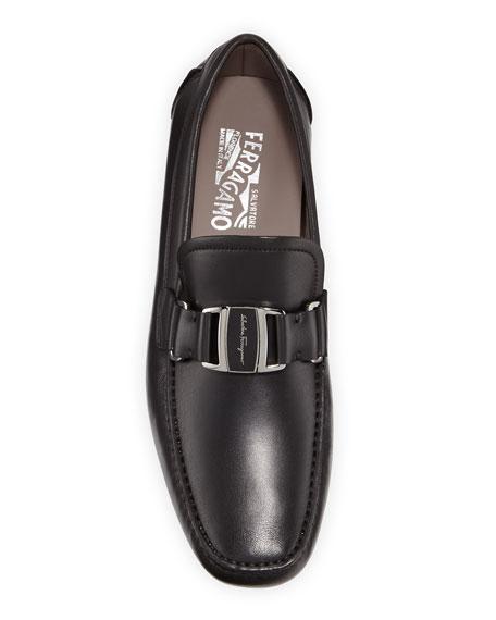 Salvatore Ferragamo Men's Sardegna Leather Buckle Drivers
