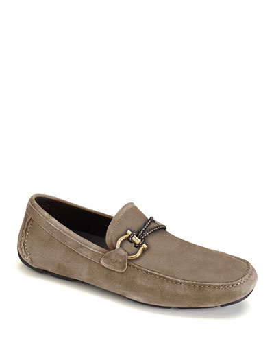 Men's Front 4 Suede Drivers with Braided Detail