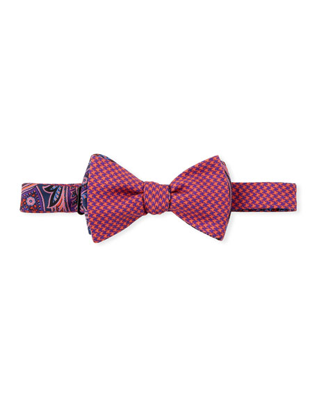 Edward Armah Paisley & Houndstooth Bow Tie
