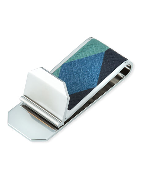 dunhill Cadogan Leather-Inset Money Clip