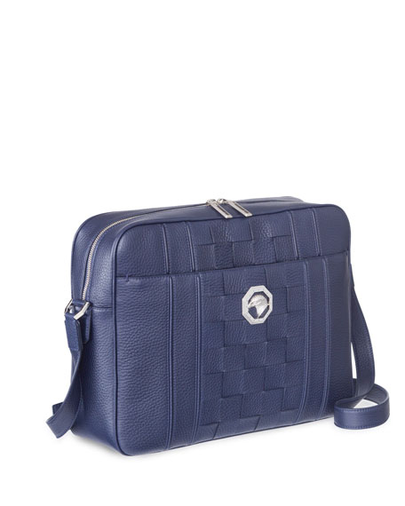 Stefano Ricci Men's Woven Leather Business Bag