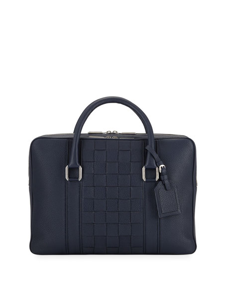 Stefano Ricci Men's Woven Leather Business Bag
