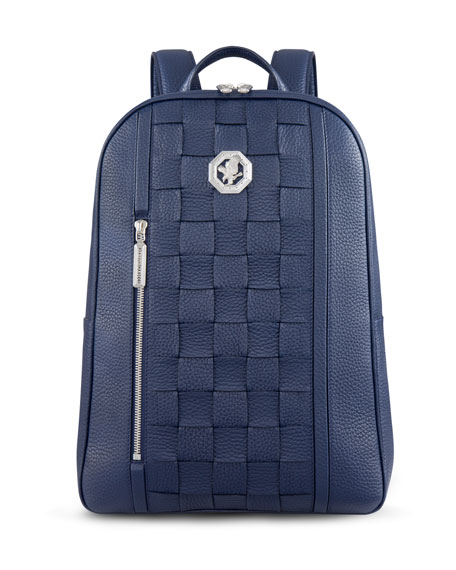 Stefano Ricci Men's Woven Leather Backpack