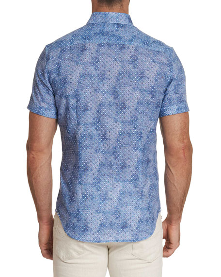 Image 2 of 3: Robert Graham Men's Short-Sleeve Boyer Shirt