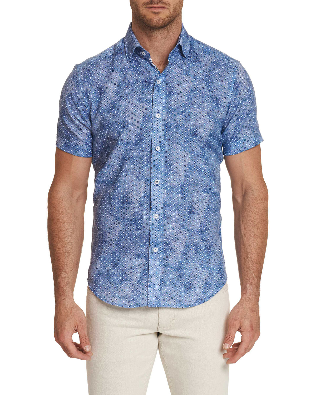 Robert Graham Men's Short-Sleeve Boyer Shirt