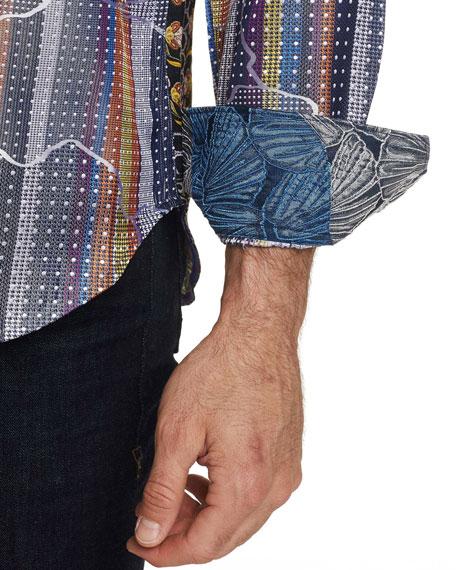 Robert Graham Men's Armadillo Lair Graphic Sport Shirt