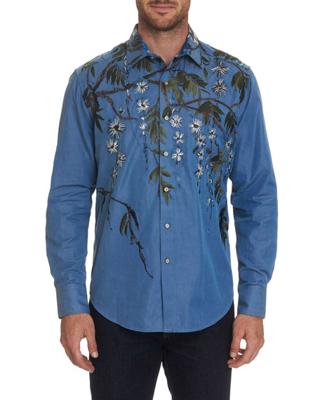 Robert Graham Men's Shangri-La Graphic Sport Shirt